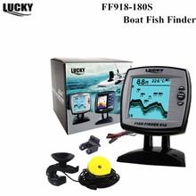 Купить с кэшбэком Wholesale Sonar Fish Finder  FF918-180S wired Echo fish finder Sounder Lure Findfish Boat Alarm sensor Fish Finder 45 degrees