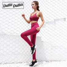 Duttedutta Fitness Women Yoga Set High Stretchy Seamless Sport Suit Padded Bra Waist Leggings Gym Sportswear