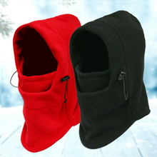 HT1489 Warm Thick Fleece Winter Hat for Men Women Casual Solid Ski Cap Muffler Earflap Snow Riding Russian