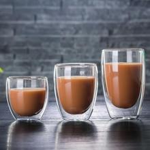 1 Pcs Bottiglia di Acqua Insieme della Tazza di Caffè di Calore resistente A Doppia Parete di Vetro Tazza Tazza di Birra Birra Artigianale Tazza di Tè Tazza di Whisky tazze di vetro