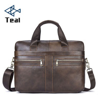 2019 Briefcases Business Men Handbag 100% Premium Cow Leather Bag Men Messenger Bags Best Laptop Bags with Handle