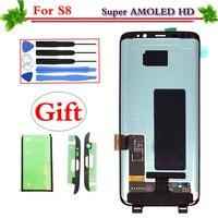 Для samsung Galaxy S8 G950 G950F AMOLED ЖК дисплей Экран сенсорный дигитайзер Дисплей сборки Замена для samsung S8 G950