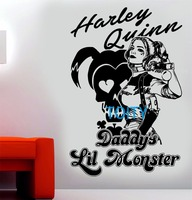 Harley Quinn Wall Decal Suicide Squad Vinyl Sticker Daddys Lil Monster Movie Poster Art Decor Mural