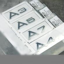 Factory Supply ABS Original Quaity Sline Car Rear Decoration Emblem Sticker for Audi
