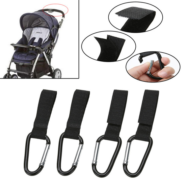 4pcs/set Universal Pram Pushchair Hanger Mommy Buggy Clip Baby Stroller Hook Shopping Bag Clip for Baby Car Carriage