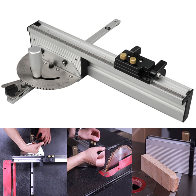 Miter Gauge Table Saw Router Angle Miter Gauge Guide Aluminium Fence 450/600/800mm And Flip Stop