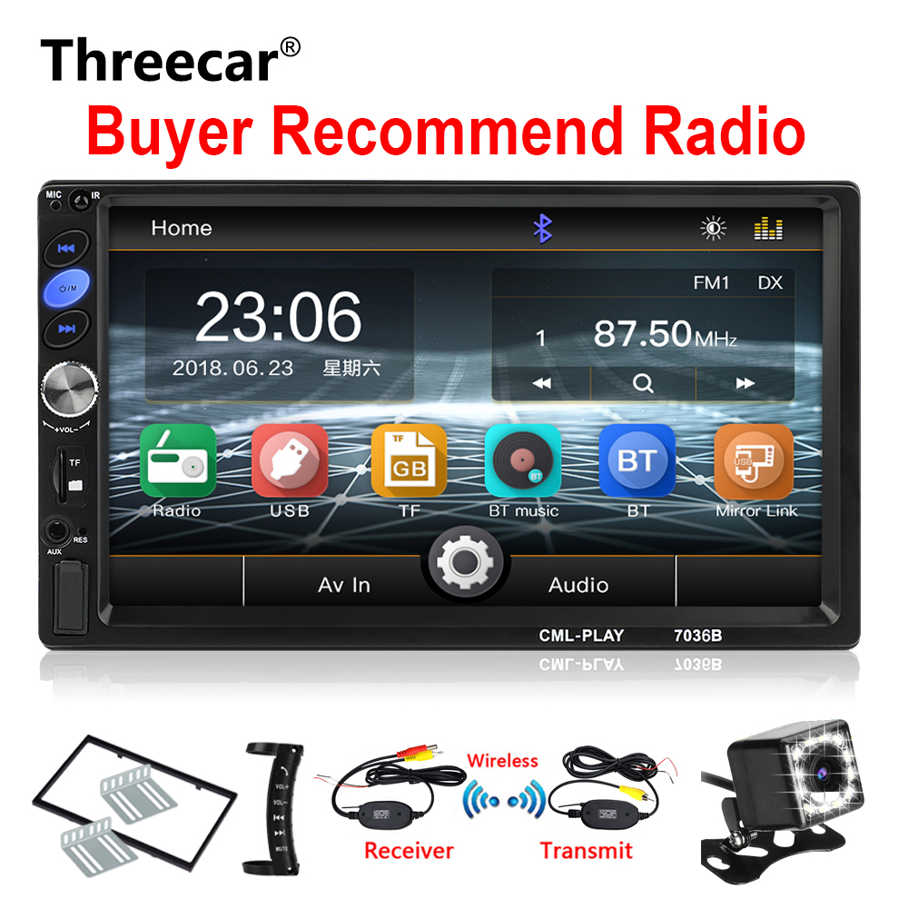 2din Car Radio 7 mirrorlink Android Autoaudio for subwoofer MP5 Player Autoradio Bluetooth Rear View Camera tape recorder2din Car Radio 7 mirrorlink Android Autoaudio for subwoofer MP5 Player Autoradio Bluetooth Rear View Camera tape recorder