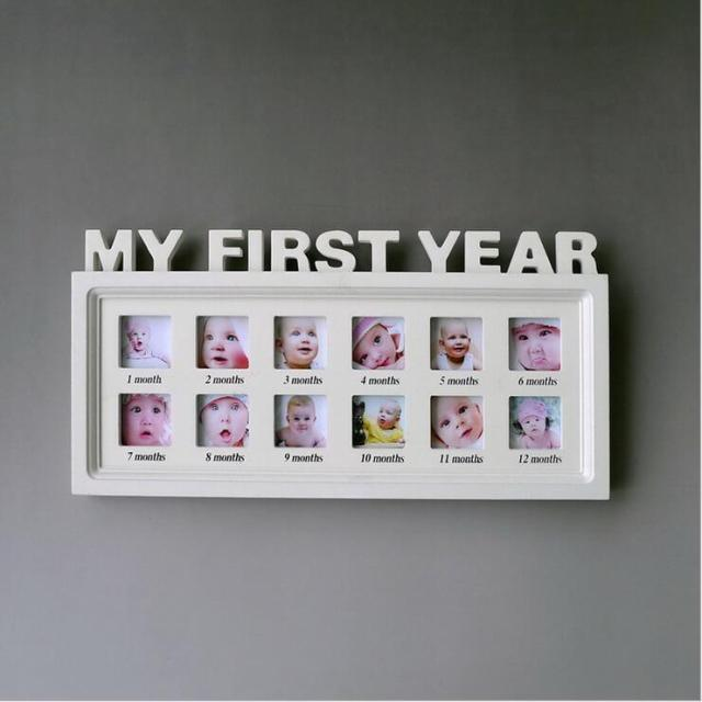 Ceative Babys First Year Picture Frame Decorative Infants 1 12