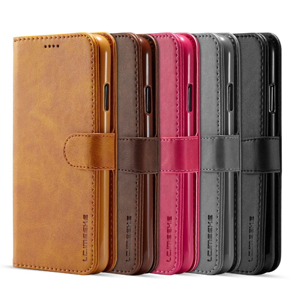 Magnet Leather Wallet Case For iPhone 6 S 7 8 Plus  XS Max XR card slot flip cover for  iphone X  XR XS  iPhone 6s 7plus 8plus|Flip Cases| |  - title=