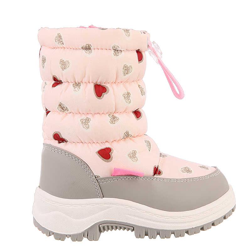 Sevimli kartal kış kız kaymaz kar botları çocuklar dağcılık kayak sıcak keçe çizmeler okul açık hava etkinlikleri Eur boyutu 22 -33