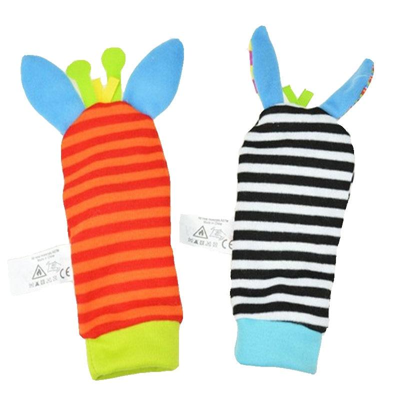 sale Sozzy Character Wrist Foot Socks Baby Rattles Toy set Animal Socks Wrist Strap Bug Wrist Strap Socks christmas gift