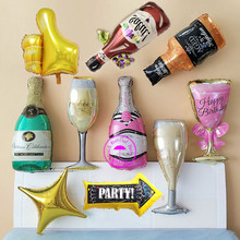 hot deal buy foil balloons beer balloon helium bottle champagne balloons ballons decoration for birthday party beer helium balloon