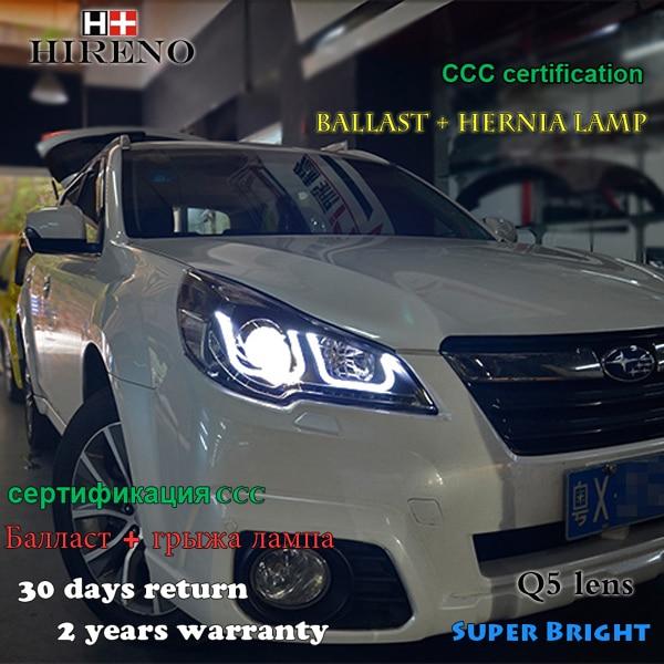 Hireno Headlamp For 2010 2012 Subaru Outback Headlight