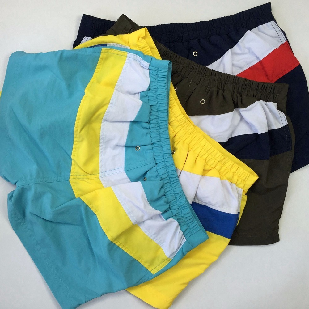 Men Shorts Panelled Cargo Low Waist Fitness Patchwork  2