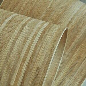 Image 2 - טבעי פרקט עץ פורניר רוסית אלון פורניר צלב לחתוך עם תומך צמר
