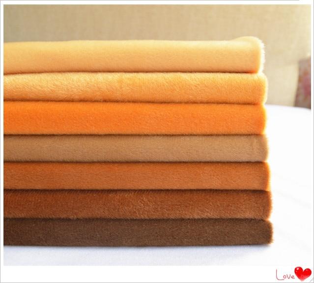 50 * 150 cm Samt Stoff Meter Brown Plüsch Fleece Handarbeit - Kunst, Handwerk und Nähen - Foto 2