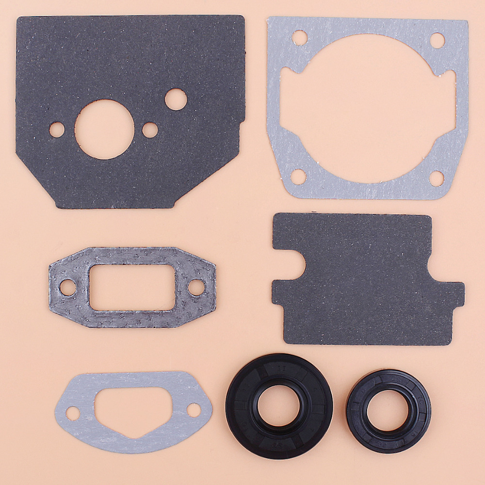 Cylinder Carburetor Intake Gasket Oil Seal Kit For Chinese 4500 5200 5800 45CC 52CC 58CC Chainsaw Gasket Replacement Set