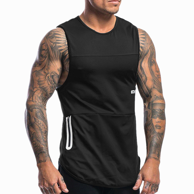 2019 Summer New Men Bodybuilding Workout Sleeveless   Tank     Tops   Mens Gyms Clothing Fitness Jogger Casual Shirt Vest