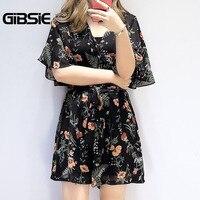 GIBSIE Plus Size Women Clothing High Waist Floral Print Chiffon Jumpsuit Summer Women Elegant Vintage Loose