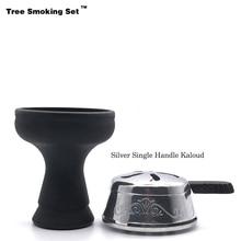 Black Sheesha Hookah Head Chicha Narguile Nargile Smoking Pipe Shisha Accessories Cachimba Kopf Foyer TWAN0505