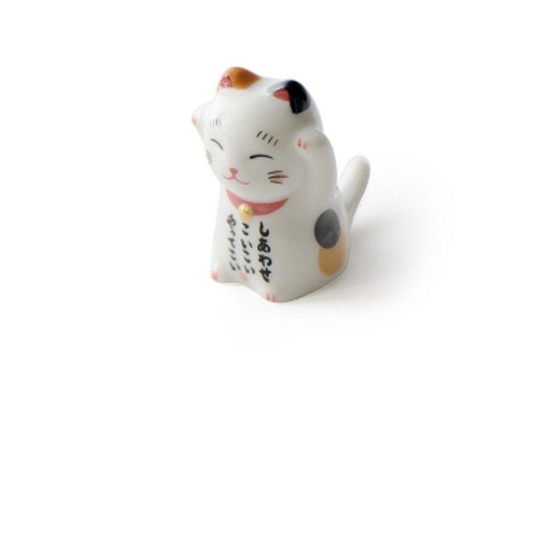 Визуальный сенсорный японский стиль керамические палочки держатель подставка Милая стойка для палочек для еды Подушка Уход отдых кухня Искусство ремесло посуда N - Цвет: Standing lucky cat