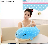 about 60cm blue whale plush toy down cotton very soft doll throw pillow birthday gift s0625