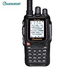 Двухсторонняя радиостанция, цифровой двухдиапазонный приемопередатчик, 999 каналов памяти, UHF/VHF Ham Walkie Talkie, радио с цветным экраном