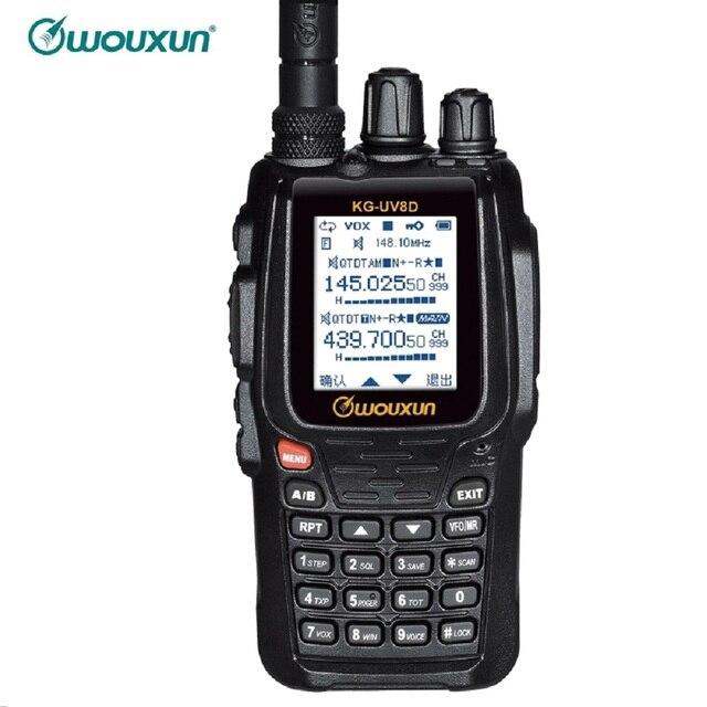 WOUXUN KG 8D בתוספת דו דרך רדיו דיגיטלי Dual Band משדר 999 זיכרון ערוצים UHF/VHF מכשיר קשר חזיר צבע מסך רדיו