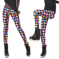 2016 hot new Black milk ghette sexy colore fluorescente diamante lattice Leggings matita di strass legin boothose all'ingrosso