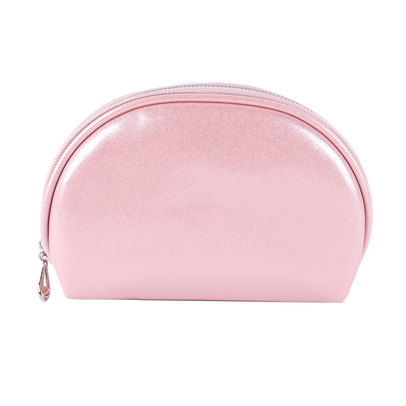 Shell Cosmetic Bag PU Leather Makeup Bag Women's Clutch Bag Small Cute Pouch 16*12cm