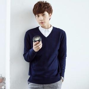Image 4 - Męskie swetry mieszanka kaszmiru Knitting V neck swetry gorąca sprzedaż wiosna i zima mężczyzna wełniana dzianina wysokiej jakości bluzy ubrania