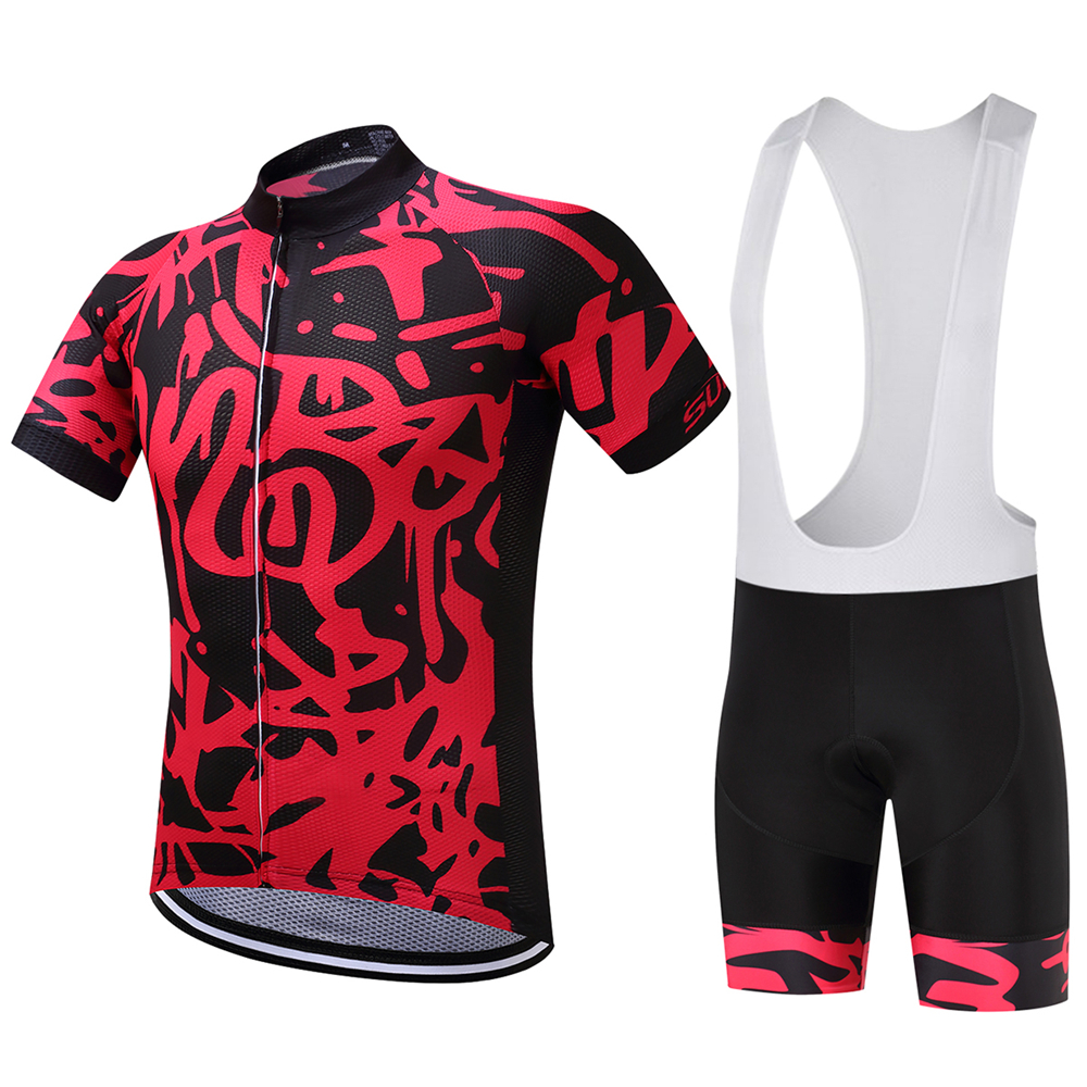 db92eabd68c447 Dotted / Red Scrawl Style Black Cycling Jersey and Bib Shorts Set-in Cycling  Sets from Sports & Entertainment on Aliexpress.com | Alibaba Group