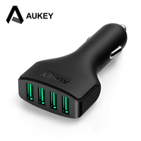 Aukey 48W 9 6A DC 12 24V 4 Ports USB Car Charger Adapter For Apple IPhone
