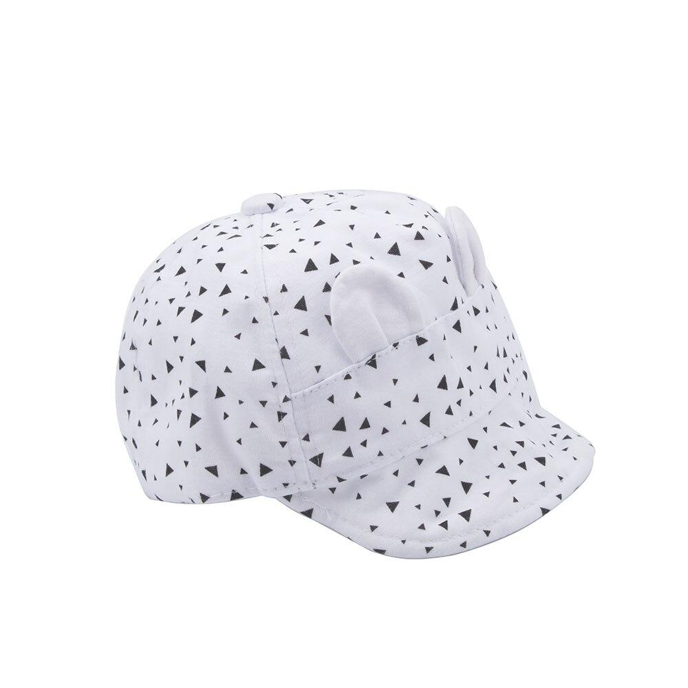 1 Pcs Summer Fit for 1-2 Y Kids Baby Unisex Boy/Girls Cute Cotton Soft Baseball Black/White Adjustable Cap Visor Cap