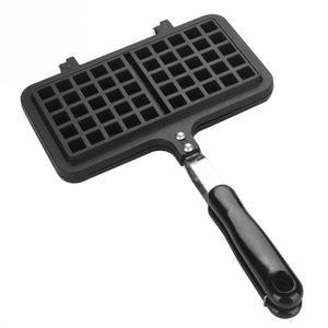 Image 2 - Dual Head Keuken Gas Non stick Wafelijzer Pan Mould Mold Pers Plaat Bakken Tool Bubble Ei Taart Oven ontbijt Machine