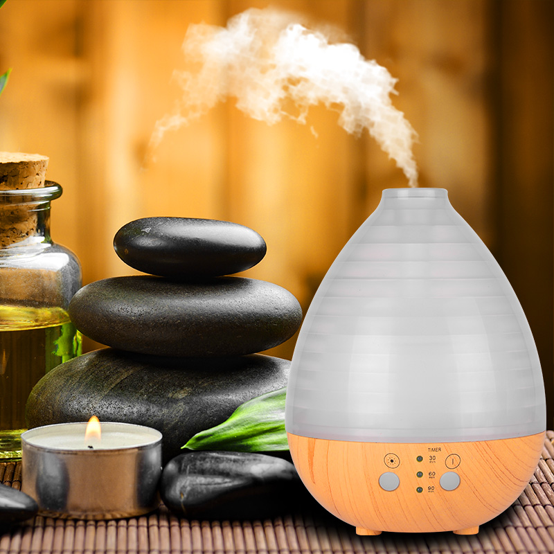 QINGHA 235ml Aroma Essential Oil Diffuser Ultrasonic Air Humidifier with Wood Grain electric LED Lights aroma diffuser for home kbaybo aroma essential oil diffuser ultrasonic air humidifier with wood grain electric led lights aroma diffuser for home