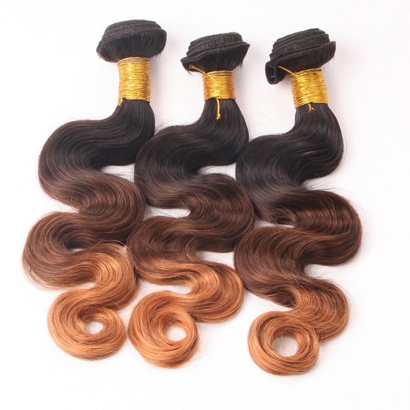 6A Unprocessed Brazilian Virgin Body Wave Hair With Closure 3pcs Ombre Brazilian Hair Weave Bundles And Closure Rosa Hair ZWP072 (1)