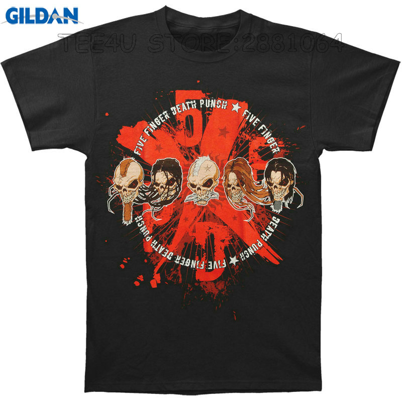 Gildan Tee4U Adult T Shirt S-2Xl Crew Neck Short-Sleeve Best Friend Five Finger Death Punch Blood Splatter 5Fdp X Shirts For Men