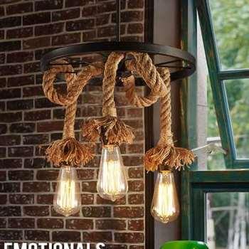 خمر حبل عجلة قلادة ضوء علوي الإبداعية الصناعية مصباح اديسون لمبة الأمريكية نمط لغرفة المعيشة الديكور