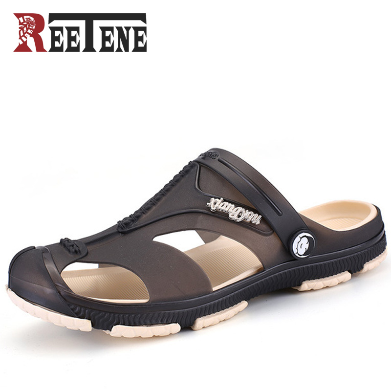 REETENE Fashion Casual Sandals For Men Summer MenS Slippers Beach Men Slippers MenS Garden Clogs Slippers Flip-Flops Zapatos
