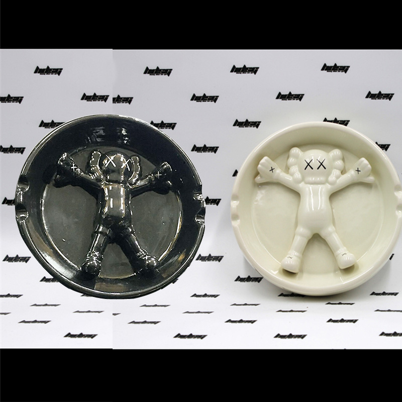 High Quality Gallery 1950 OriginalFake KAWS Ashtray Made by the ceramic (16*4cm) , Two Color Optional ashtray
