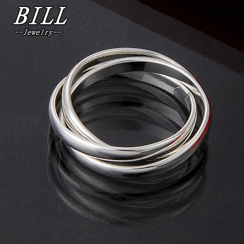 R001 2018 Fashion Wedding Rings For Women Men Jewelry Finger Anillos Anel Bijoux Accessoris 3pcs Ring dia 18mm Factory Price