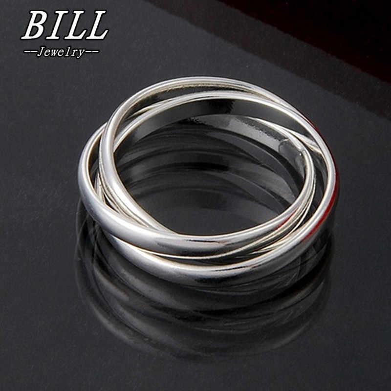R001 2018 модные свадебные кольца для мужчин и женщин ювелирные изделия для пальцев Anillos Anel Bijoux аксессуары 3 шт. кольцо диаметром 18 мм заводская цена
