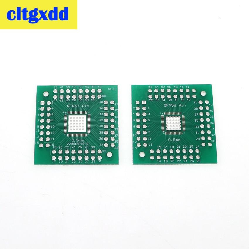 Cltgxdd 5 шт. QFN 56 64 SMD Поворотный адаптер DIP плата PCB преобразователь пластина 0,5/0,8 мм Стандартная плата для тестирования преобразователя печатно...