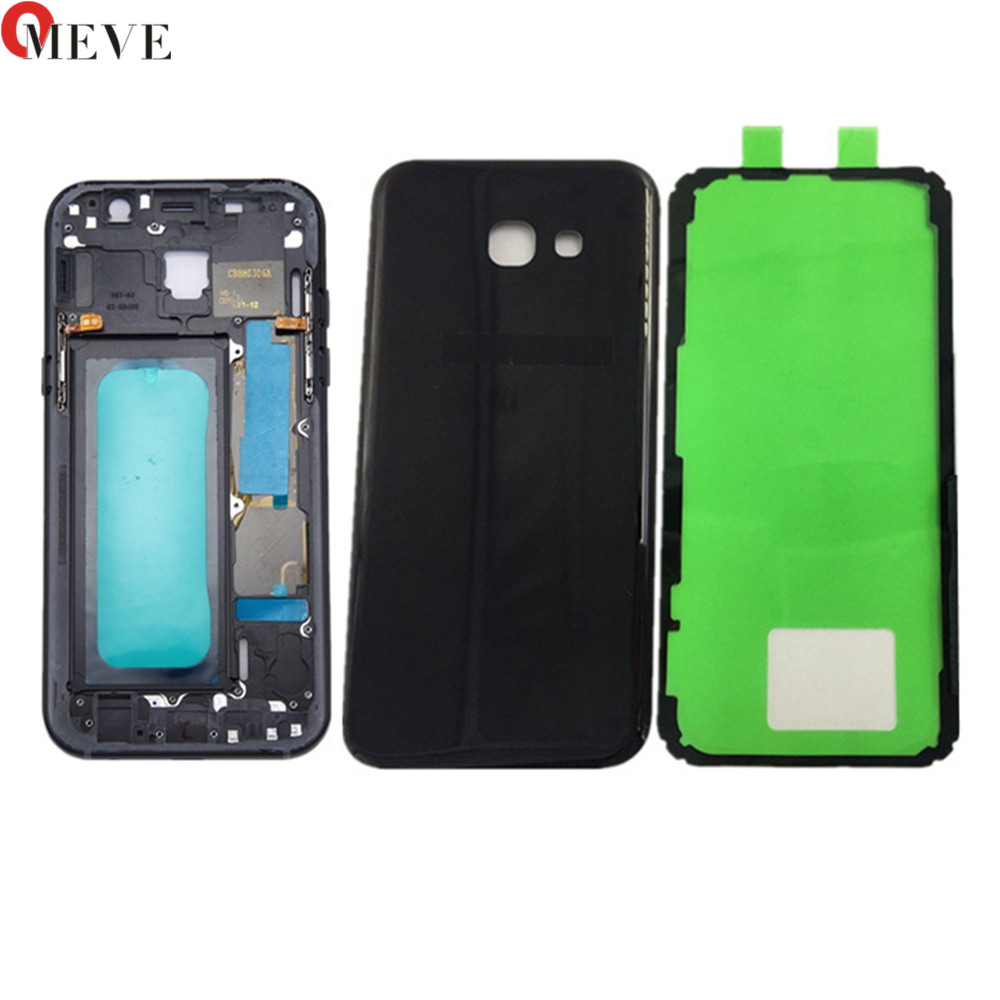 Original Replacement For Samsung Galaxy A5 A520 A520F (2017) Full Housing Middle Frame Bezel Housing Chassis + Battery Door|Mobile Phone Housings & Frames| |  - title=