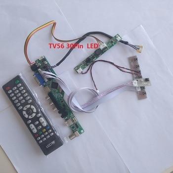 "kit for M240HW01 VB 24"" VGA HDMI TV AV USB LCD LED LVDS Controller board 30pin DIY CVBS Panel Screen 1920X1080"
