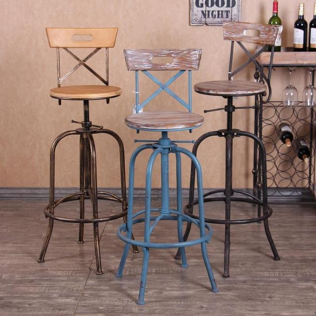Enjoy The Retro Style To Do Old Wrought Iron Chair Lift Bar Reception  Lounge Stool Chairs