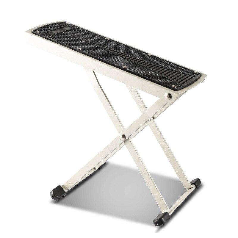 250x100mm foldable guitar foot rest stool metal anti slip guitar pedal 6 adjustable height. Black Bedroom Furniture Sets. Home Design Ideas