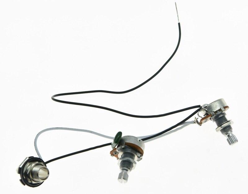 PB Prewired Wiring Harness 1V1T Alpha 250K 16mm Pots 1