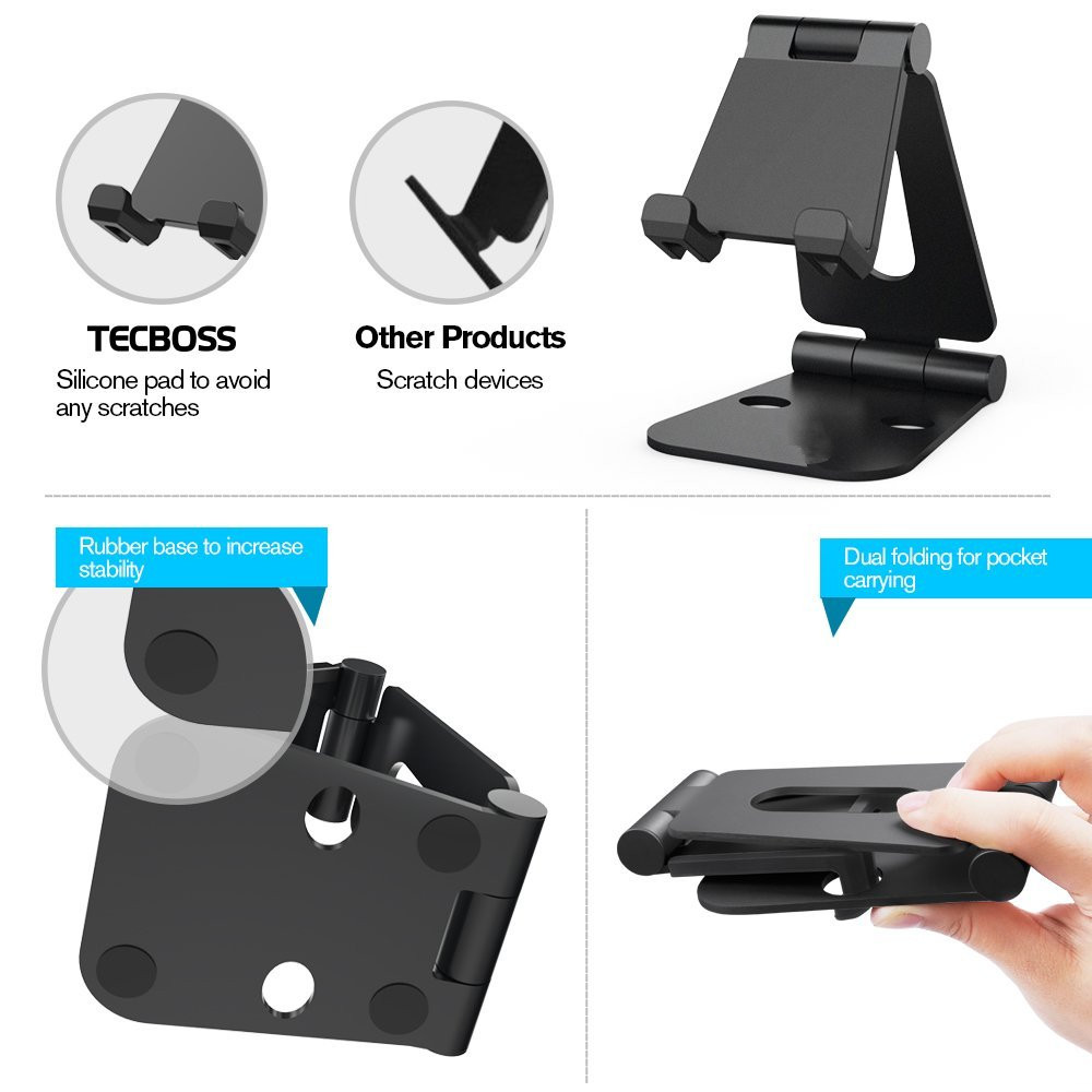 dealonow Multi-Angle Stand for NS Switch Phone Tablet Video Game Holder Dock For iPhone 8